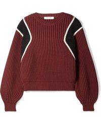 FRAME - Cropped Ribbed Cotton-blend Sweater - Lyst