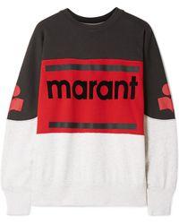 Étoile Isabel Marant - Gallian Flocked Cotton-blend Jersey Sweatshirt - Lyst