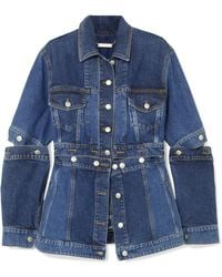 Alexander McQueen - Layered Denim Peplum Jacket - Lyst