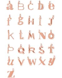 Monica Vinader - A-z Alphabet Letter Rose Gold Vermeil Pendants Rose Gold R - Lyst