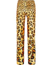 Richard Quinn - Leopard-print Satin Straight-leg Pants - Lyst