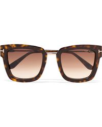 Tom Ford - Square-frame Tortoiseshell Acetate Sunglasses - Lyst