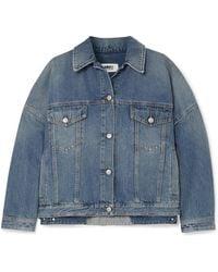 MM6 by Maison Martin Margiela - Oversized Denim Jacket - Lyst