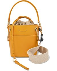 f942d0bc30ee Lyst - Chloé Roy Convertible Two-tone Suede And Leather Shoulder Bag