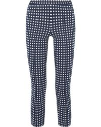 MICHAEL Michael Kors - Checked Stretch-knit Skinny Pants - Lyst
