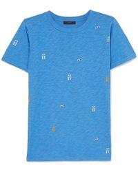 J.Crew - Tossed Printed Slub Cotton-jersey T-shirt - Lyst