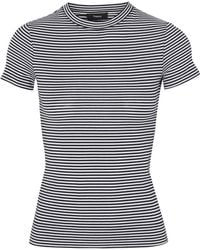 Theory - Striped Cotton-jersey T-shirt - Lyst