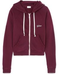 RE/DONE - Embroidered Stretch-cotton Terry Hoodie - Lyst