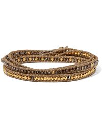 Chan Luu - Gold-plated Crystal Wrap Bracelet - Lyst