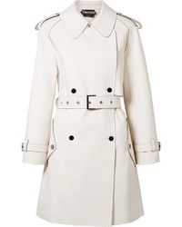 Tom Ford - Double-breasted Leather Trench Coat - Lyst
