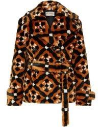 Mary Katrantzou - Oates Printed Faux Fur Coat - Lyst
