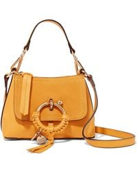 See By Chloé - Joan Mini Textured-leather And Suede Shoulder Bag - Lyst