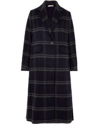 Vince - Shadow Checked Wool-blend Coat - Lyst