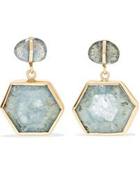 Melissa Joy Manning | 14-karat Gold, Aquamarine And Labradorite Earrings | Lyst