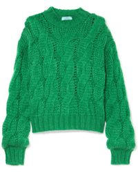 Prada - Cable-knit Mohair-blend Jumper - Lyst