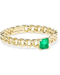 Jemma Wynne - 18-karat Gold Emerald Ring - Lyst