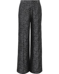 Equipment - Arwen Silk-blend Jacquard Wide-leg Trousers - Lyst