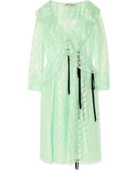 Sandy Liang - Carmen Ruffled Lace Midi Dress - Lyst