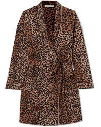 Love Stories - Ritz Leopard-print Satin Robe - Lyst e0ff5cd9a
