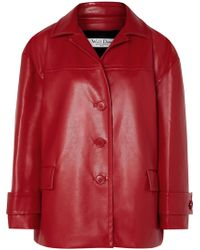 we11done - Oversized Faux Leather Jacket - Lyst