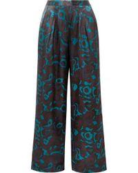 Eres - Eugene Floral-print Silk-satin Pyjama Trousers - Lyst