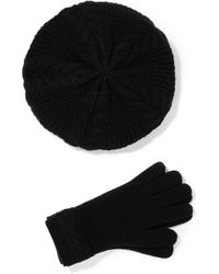 Portolano - Cable-knit Cashmere Beret And Gloves Set - Lyst