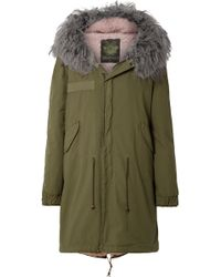 Mr & Mrs Italy - Hooded Shearling-lined Cotton-canvas Parka - Lyst