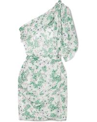 Isabel Marant - Myron One-shoulder Fil Coupé Silk-blend Mini Dress - Lyst