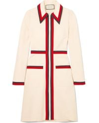 Gucci - Grosgrain-trimmed Stretch-crepe Dress - Lyst