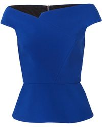 Roland Mouret | Elmswell Off-the-shoulder Crepe Top | Lyst