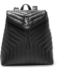 130cc7df7f Saint Laurent - Loulou Medium Quilted Leather Backpack - Lyst