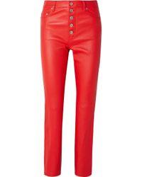JOSEPH - Den Leather Straight-leg Trousers - Lyst