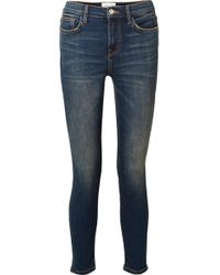 Current/Elliott - The High Waist Stiletto Cropped Skinny Jeans - Lyst
