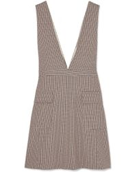 See By Chloé - Checked Woven Mini Dress - Lyst