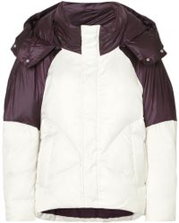 Maje - Two-tone Quilted Shell Jacket - Lyst