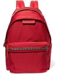 Stella McCartney - Falabella Go Faux Leather-trimmed Shell Backpack - Lyst