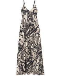 Norma Kamali - Printed Stretch-jersey Maxi Dress - Lyst