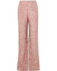 Jenny Packham - Pantalon Large En Mousseline À Sequins - Lyst