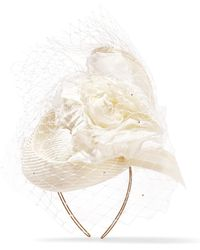 Philip Treacy | Crystal-embellished Veiled Headpiece | Lyst