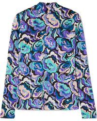 Emilio Pucci - Printed Silk-blend Satin Blouse - Lyst