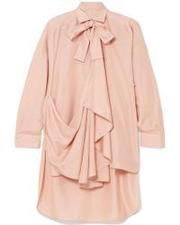 Valentino - Pussy-bow Draped Silk Tunic - Lyst