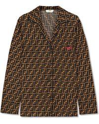 Fendi - Printed Silk Crepe De Chine Shirt - Lyst