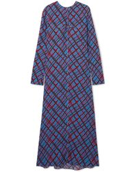 Marni - Printed Crepe Maxi Dress - Lyst