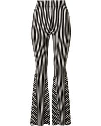 Beaufille - Lamos Striped Ribbed Stretch-knit Flared Pants - Lyst