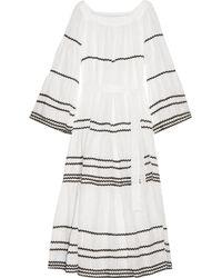 Lisa Marie Fernandez - Rickrack-trimmed Linen Maxi Dress - Lyst