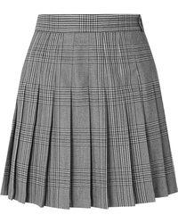 Maje - Pleated Plaid Woven Mini Skirt - Lyst