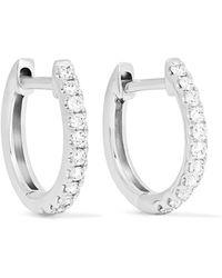 Anita Ko - Huggies 18-karat White Gold Diamond Earrings - Lyst