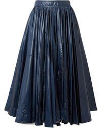 CALVIN KLEIN 205W39NYC - Pleated Shell Midi Skirt - Lyst
