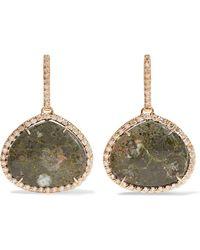 Kimberly Mcdonald - 18-karat Rose Gold, Copper Ore And Diamond Earrings - Lyst