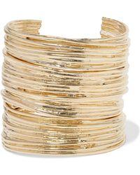Jennifer Fisher - Haywire Set Of Three Gold-plated Cuffs - Lyst